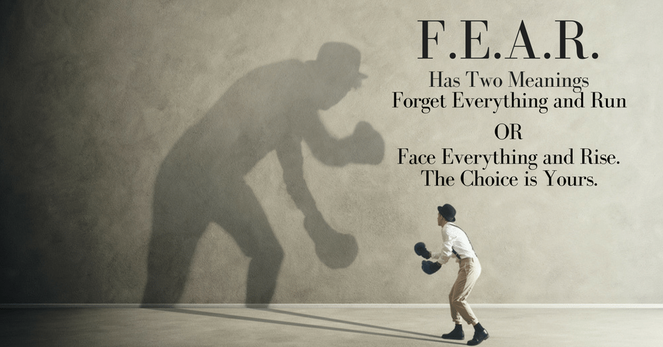 Fear Has Two Meanings Greenville SC Healthy Lifestyle