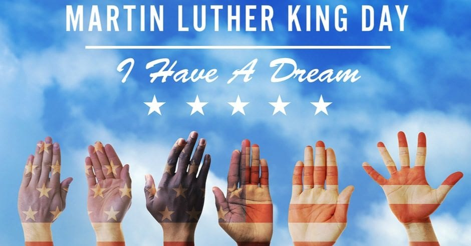 Happy Martin Luther King Jr Day Sometown CA